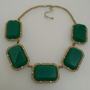 Bold Green Statement Necklace
